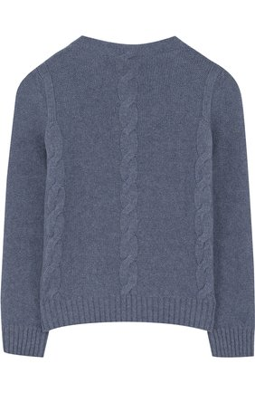 Детский кашемировый пуловер фактурной вязки LORO PIANA синего цвета, арт. FAG3834 | Фото 2