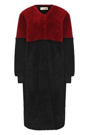 Шуба прямого кроя из овчины Anne Vest черная   Фото №1