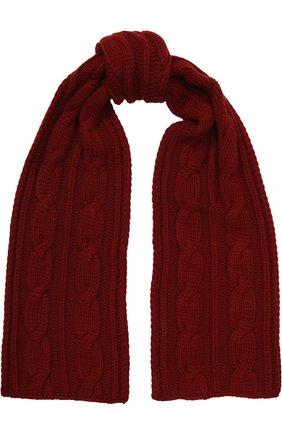 Мужской кашемировый шарф фактурной вязки LORO PIANA красного цвета, арт. FAE2470 | Фото 1