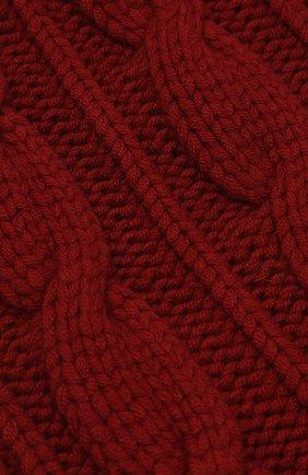 Мужской кашемировый шарф фактурной вязки LORO PIANA красного цвета, арт. FAE2470 | Фото 2