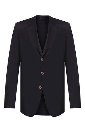 Мужской однобортный кашемировый пиджак LORO PIANA темно-синего цвета, арт. FAF6214 | Фото 1