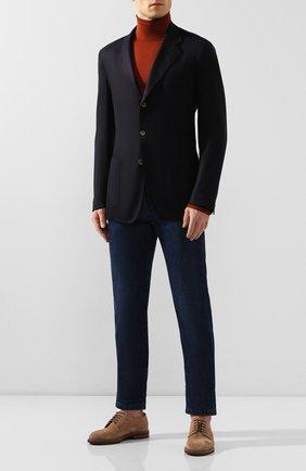 Мужской однобортный кашемировый пиджак LORO PIANA темно-синего цвета, арт. FAF6214 | Фото 2