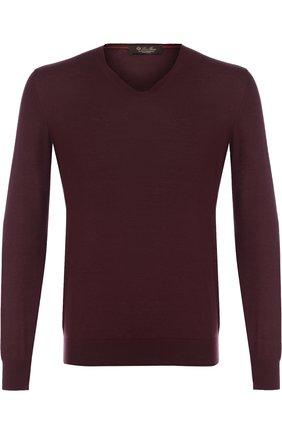 Кашемировый пуловер тонкой вязки   Фото №1
