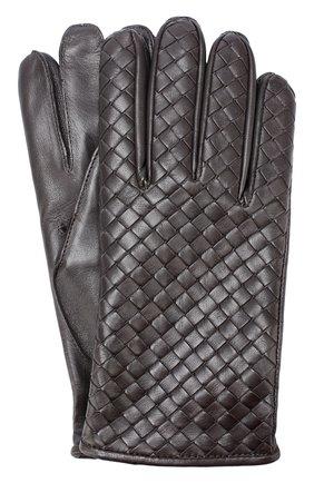 Кожаные перчатки с кашемировой подкладкой  | Фото №1