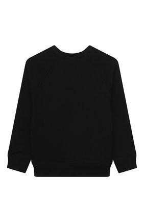 Детский хлопковый свитшот GUCCI черного цвета, арт. 483878/X3G97   Фото 2