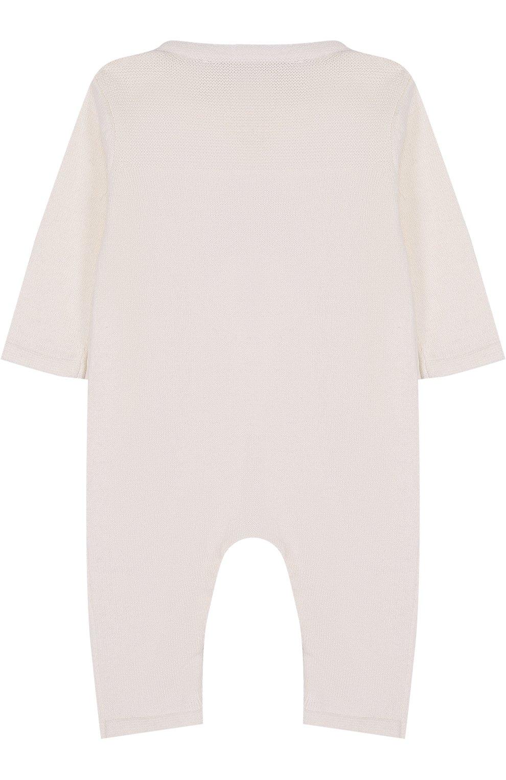 Детский комбинезон из хлопка и кашемира с принтом TARTINE ET CHOCOLAT кремвого цвета, арт. TK32021/1M-18M | Фото 2
