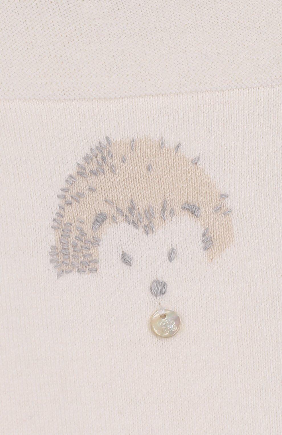 Детский комбинезон из хлопка и кашемира с принтом TARTINE ET CHOCOLAT кремвого цвета, арт. TK32021/1M-18M | Фото 3