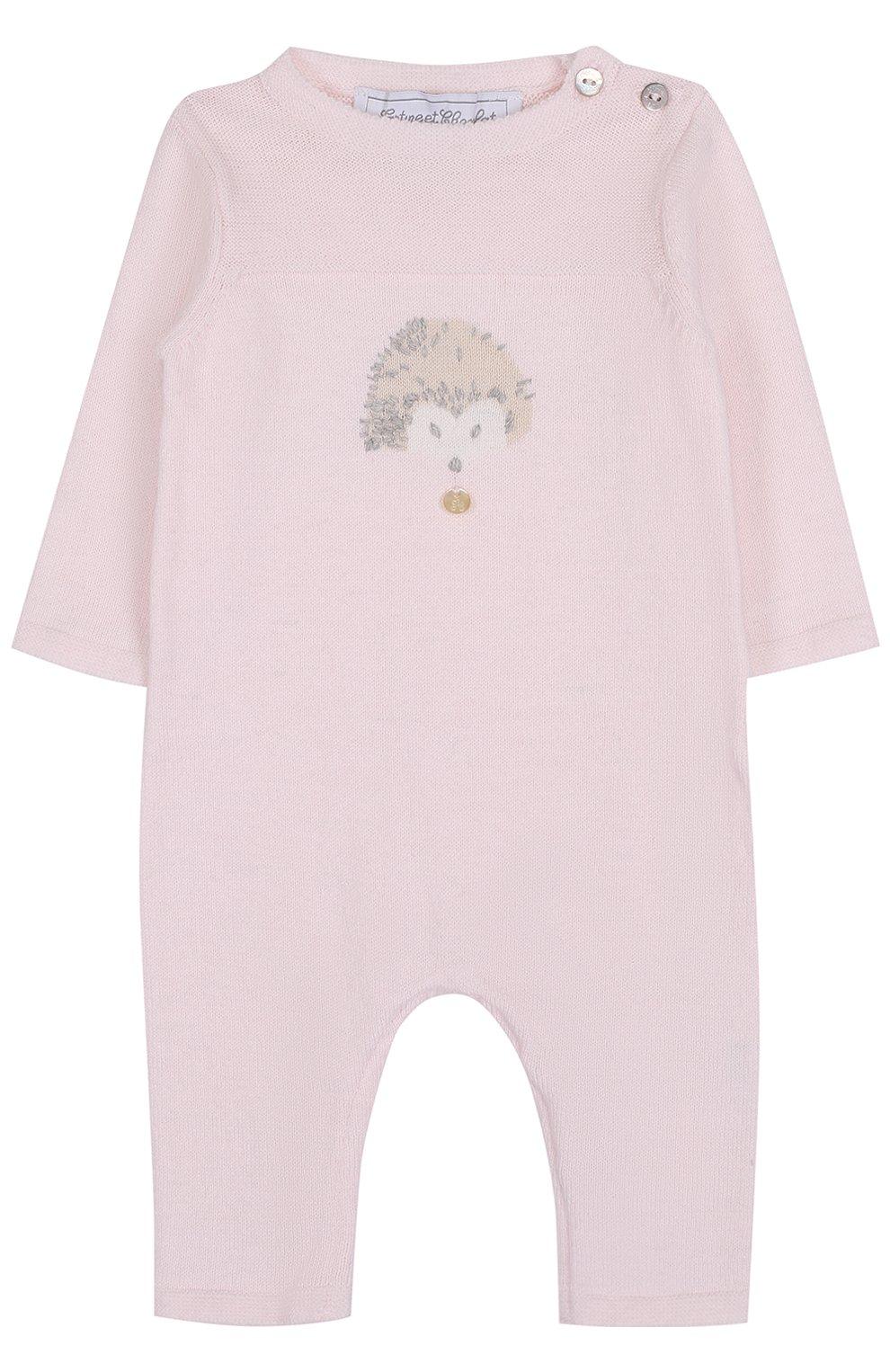 Детский комбинезон из хлопка и кашемира с принтом TARTINE ET CHOCOLAT розового цвета, арт. TK32021/1M-18M | Фото 1