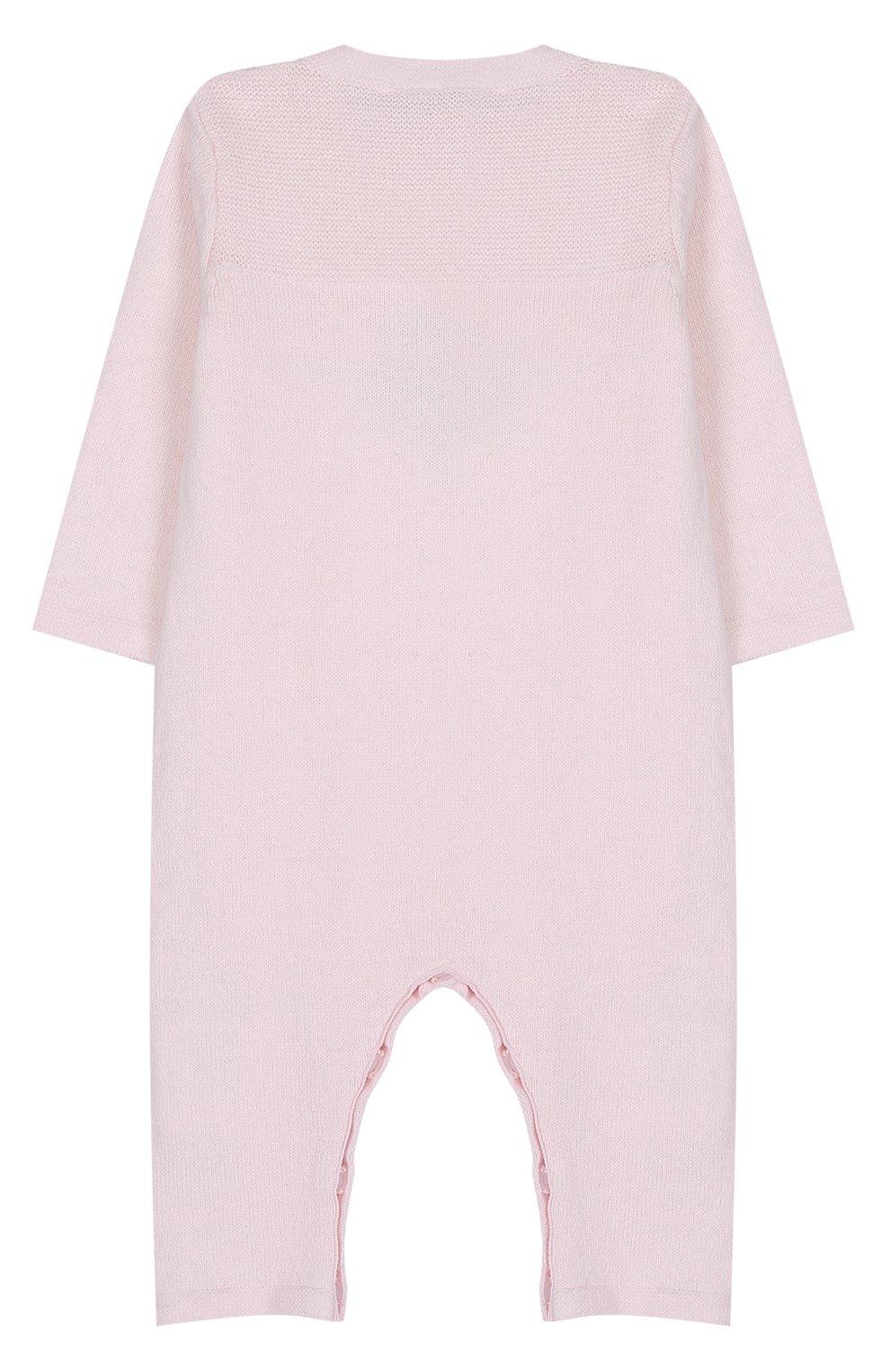 Детский комбинезон из хлопка и кашемира с принтом TARTINE ET CHOCOLAT розового цвета, арт. TK32021/1M-18M | Фото 2