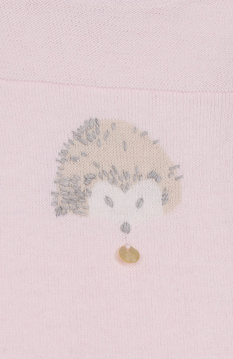 Детский комбинезон из хлопка и кашемира с принтом TARTINE ET CHOCOLAT розового цвета, арт. TK32021/1M-18M | Фото 3