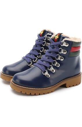 Кожаные ботинки с молнией | Фото №1