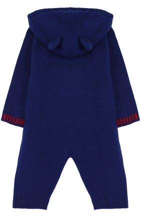 Детский комбинезон из шерсти и кашемира с принтом и капюшоном GUCCI разноцветного цвета, арт. 478549/X7A48   Фото 2