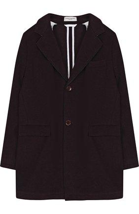 Однобортное пальто прямого кроя | Фото №1