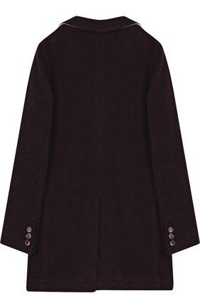 Однобортное пальто прямого кроя | Фото №2