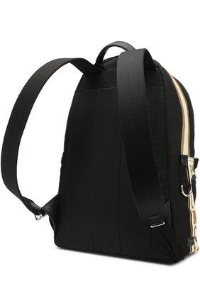 Текстильный рюкзак с принтом с внешним карманом на молнии Dolce & Gabbana бежевый | Фото №3
