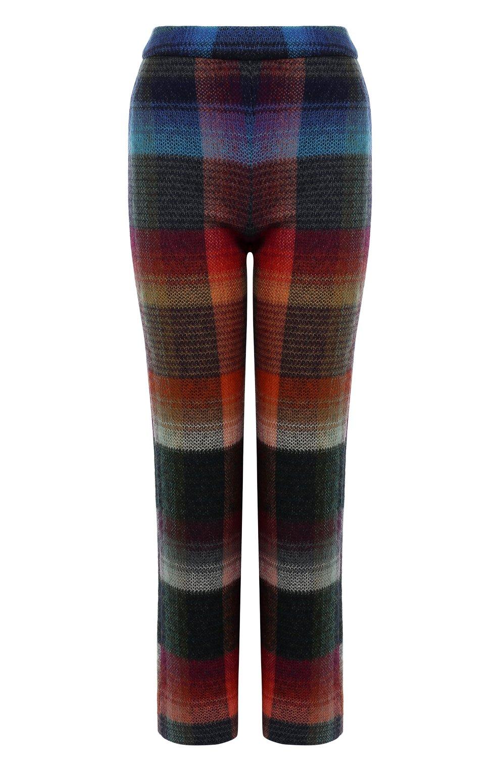 Укороченные расклешенные брюки с принтом   Фото №1