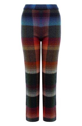 Укороченные расклешенные брюки с принтом Missoni разноцветные   Фото №1