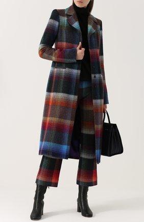 Укороченные расклешенные брюки с принтом Missoni разноцветные   Фото №2