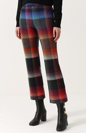 Укороченные расклешенные брюки с принтом Missoni разноцветные   Фото №3