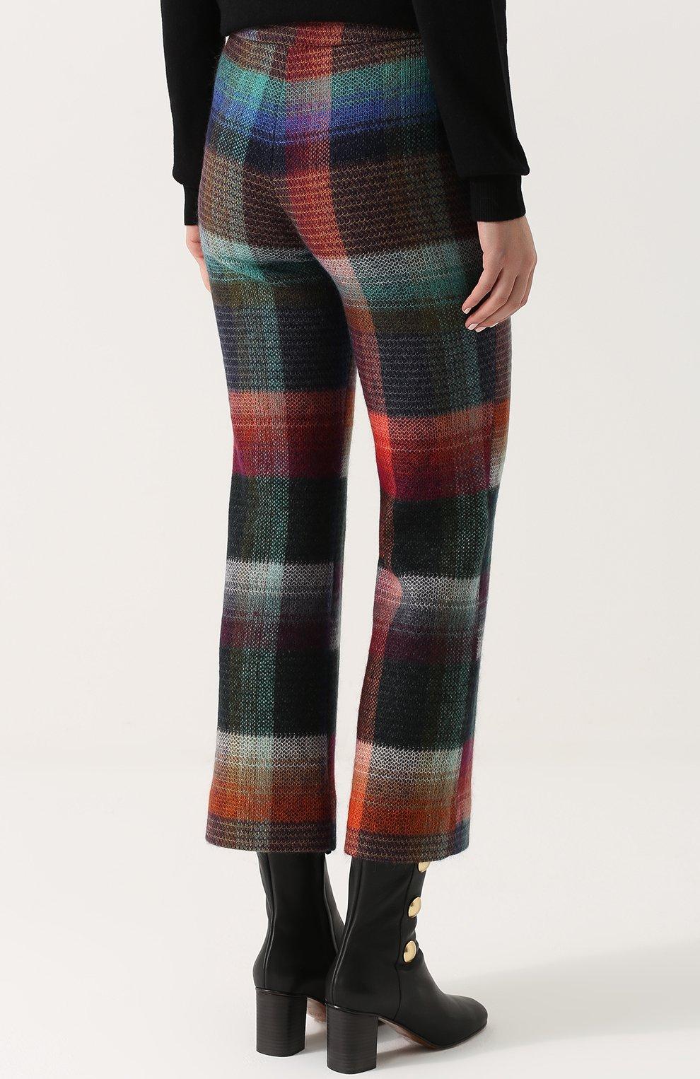 Укороченные расклешенные брюки с принтом Missoni разноцветные   Фото №4