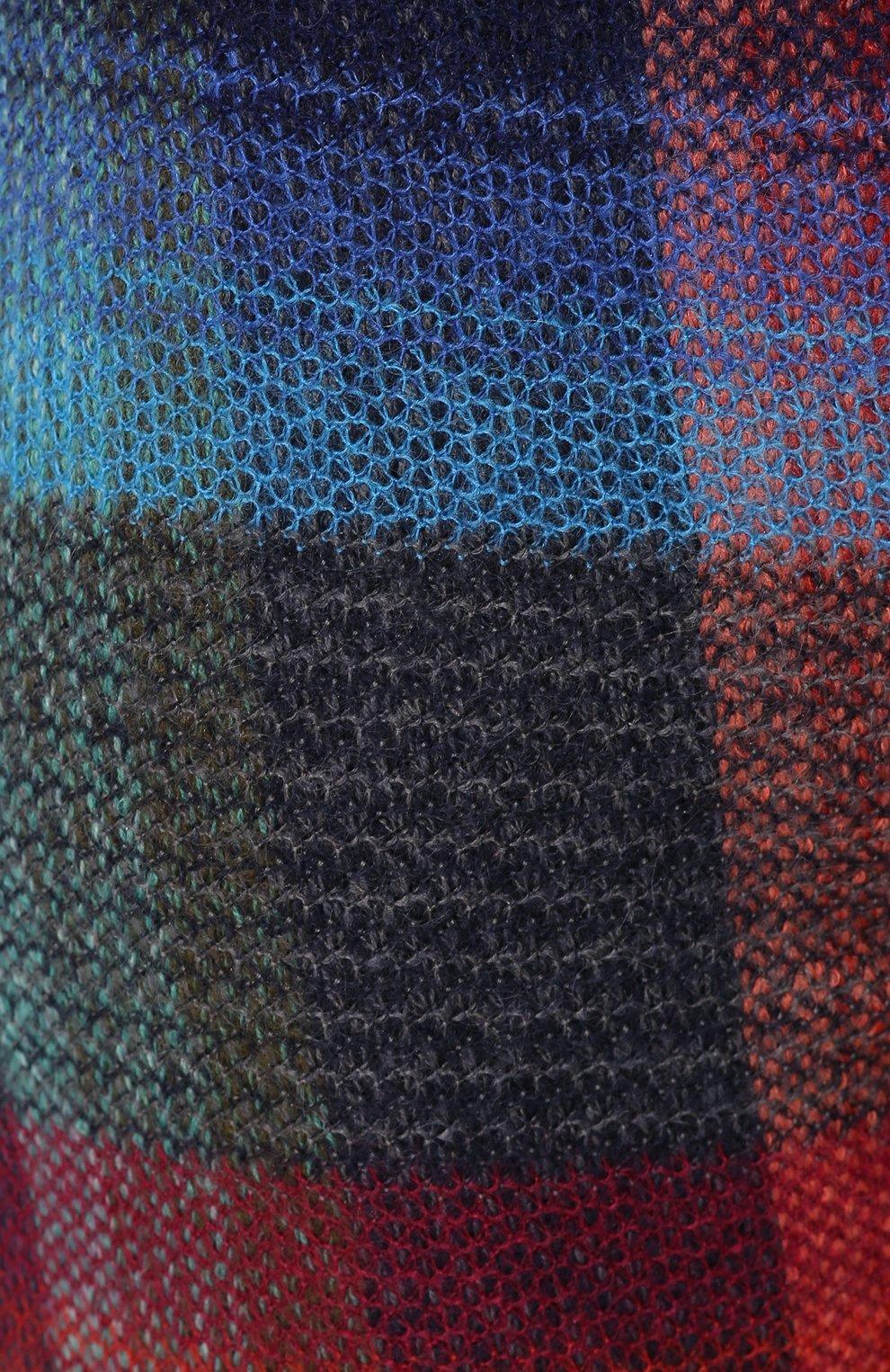 Укороченные расклешенные брюки с принтом Missoni разноцветные   Фото №5