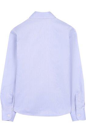 Детская хлопковая рубашка DAL LAGO синего цвета, арт. N402/1165/7-12 | Фото 2