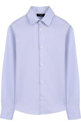 Детская хлопковая рубашка Dal Lago синего цвета | Фото №1