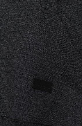 Спортивный кардиган из шерсти на молнии с капюшоном | Фото №3
