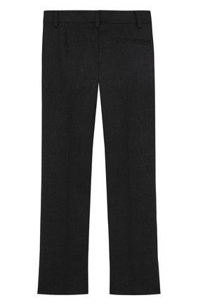 Детские брюки из шерсти прямого кроя Dal Lago темно-серого цвета | Фото №1