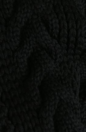 Шерстяной шарф фактурной вязки Junya Watanabe черный | Фото №1
