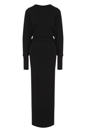 Приталенное платье-макси с V-образным вырезом на спинке | Фото №1