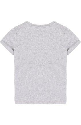 Детская хлопковая футболка с принтом GUCCI серого цвета, арт. 479396/X3G90 | Фото 2