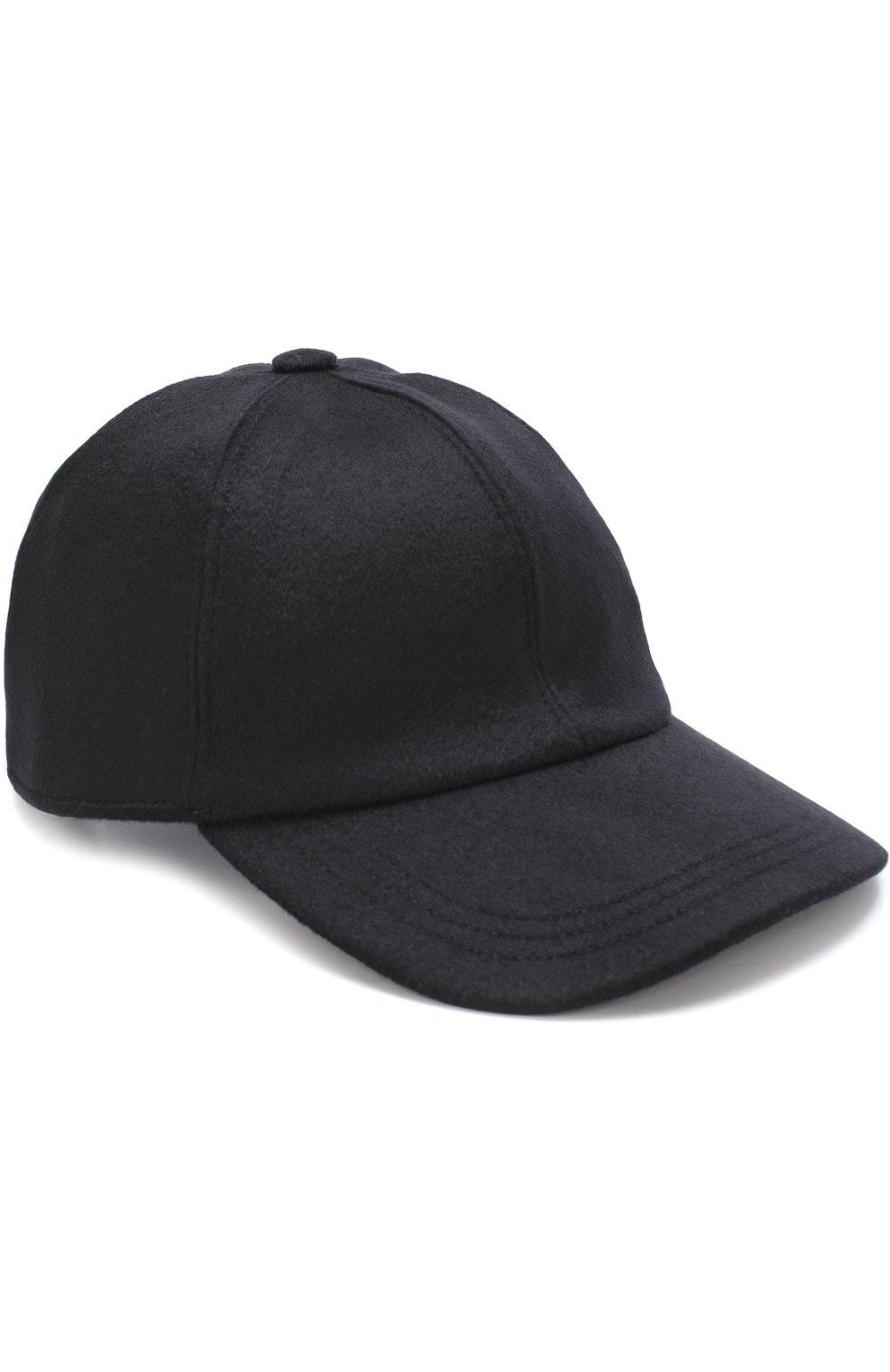 Мужской кашемировая бейсболка ERMENEGILDO ZEGNA черного цвета, арт. Z2I82/B2I | Фото 1