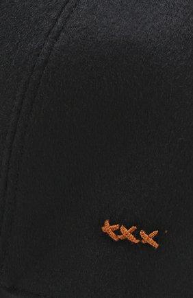 Мужской кашемировая бейсболка ERMENEGILDO ZEGNA черного цвета, арт. Z2I82/B2I | Фото 3