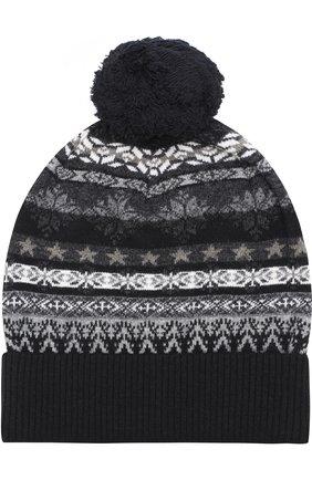 Шерстяная шапка с помпоном  Gemma. H разноцветного цвета | Фото №1