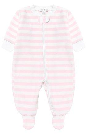 Детский хлопковая пижама в полоску KISSY KISSY розового цвета, арт. F17452V-04STZ | Фото 1