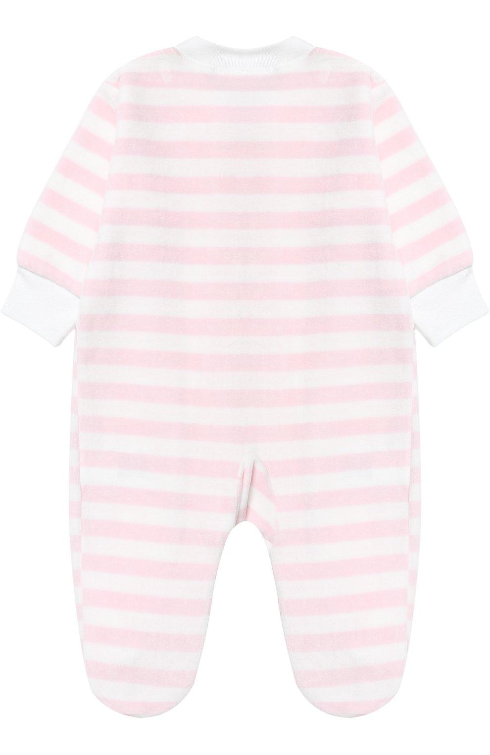 Хлопковая пижама в полоску | Фото №2