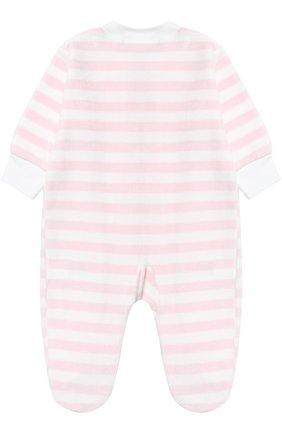Детский хлопковая пижама в полоску KISSY KISSY розового цвета, арт. F17452V-04STZ | Фото 2