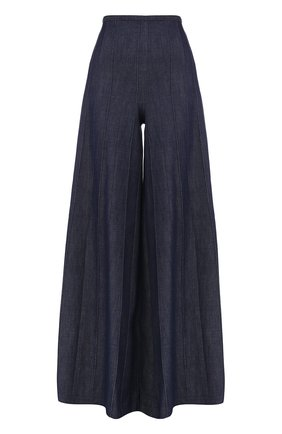 Однотонные широкие джинсы | Фото №1