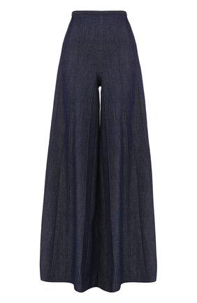 Однотонные широкие джинсы Vilshenko синие | Фото №1