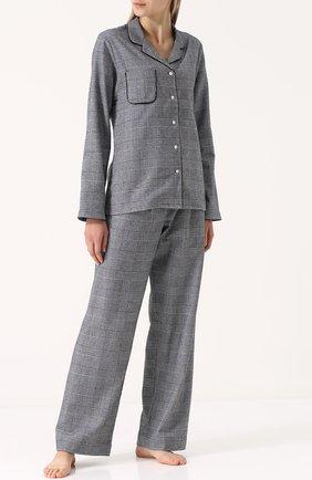Хлопковая пижама с принтом гусиная лапка | Фото №1