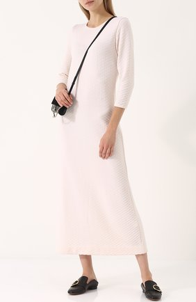 Шерстяное платье-миди с укороченным рукавом Molli кремовое | Фото №1