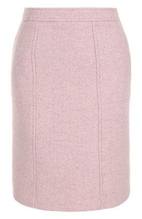 Однотонная шерстяная мини-юбка | Фото №1