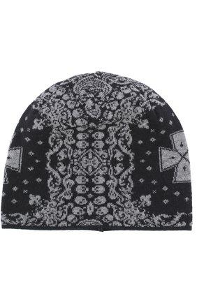 Шерстяная шапка бини с принтом Gemma. H черного цвета | Фото №1