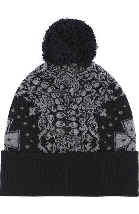 Шерстяная шапка с помпоном Gemma. H черного цвета | Фото №1