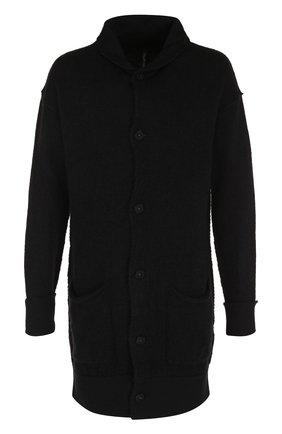 Однобортное шерстяное пальто с шалевым воротником | Фото №1