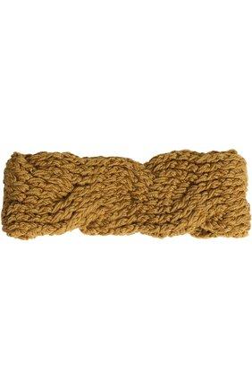 Вязаная повязка из шерсти | Фото №1
