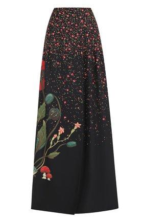 Шелковая юбка-макси с принтом | Фото №1