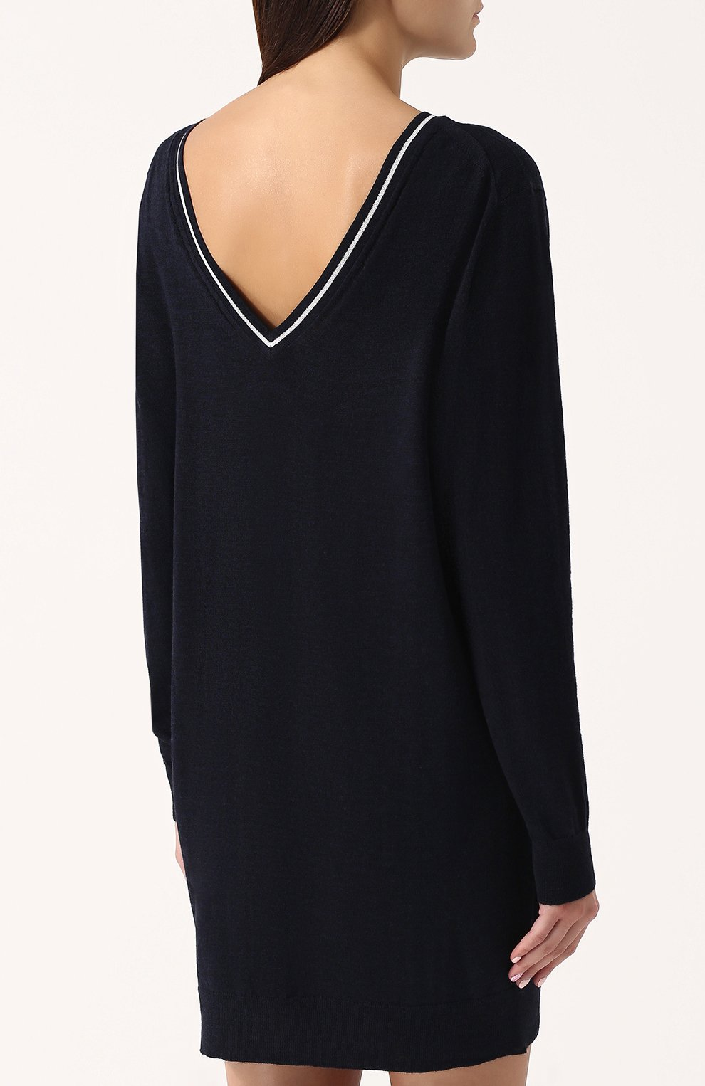 ad6dc5134a8 Шерстяное платье-миди с длинным рукавом Zadig Voltaire темно-синее
