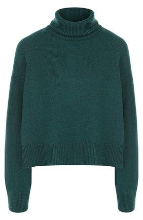 Шерстяной укороченный свитер с металлизированной нитью Zadig&Voltaire зеленый | Фото №1